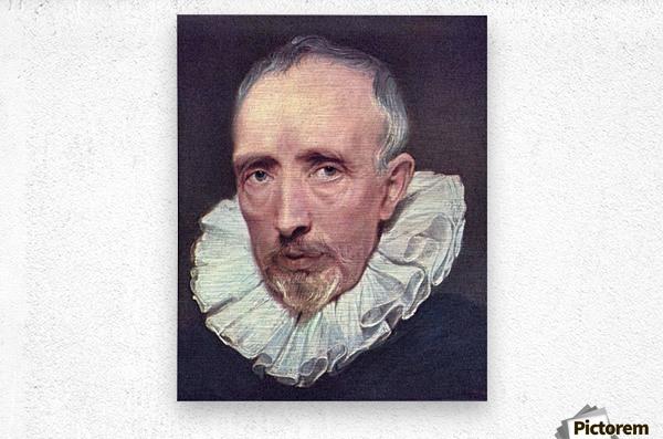Portrait of Cornelius van der Geest by Van Dyck  Metal print