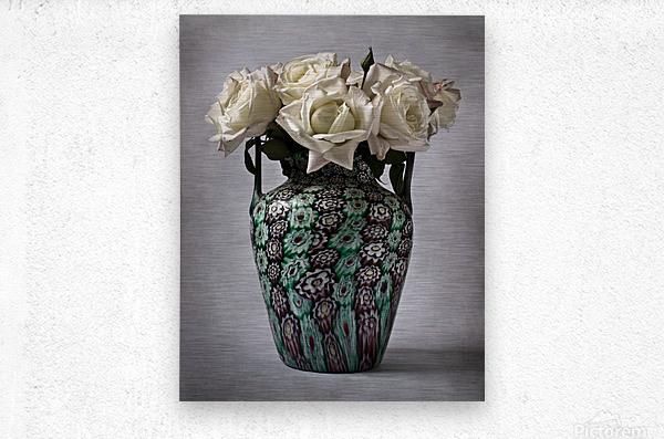 Venetian murrine vase  Metal print