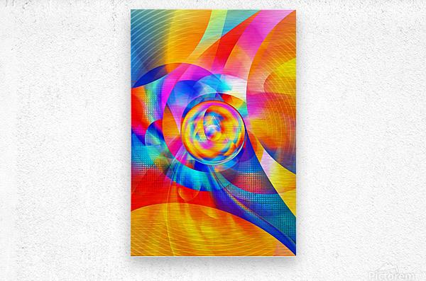 4th Dimension - Abstract Art XVI  Metal print