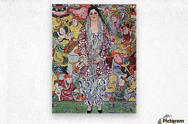 Portrait of Frederika Maria Beer by Klimt  Metal print