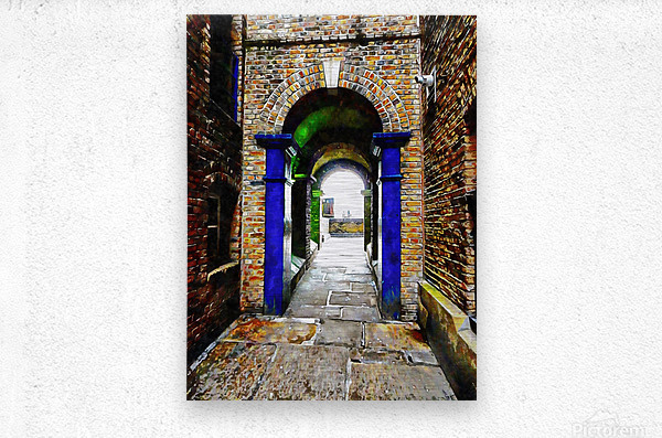 Linking Shad Thames with the River Thames  Metal print