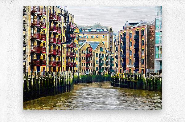 St Saviours Dock London  Metal print