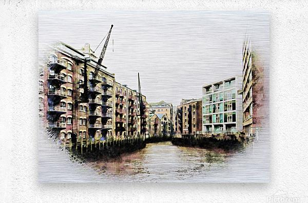 St Saviours Dock Bermondsey  Metal print