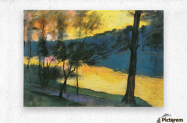 Landscape by Lesser Ury  Metal print