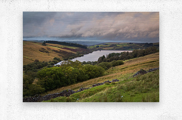 The Cray Reservoir in the Brecon Beacons National Park  Metal print
