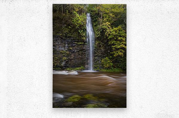 A waterfall on the river Tawe  Metal print