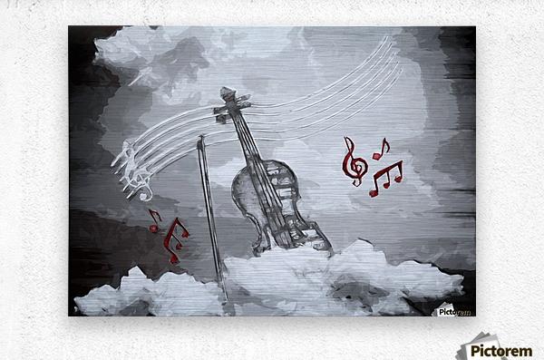 heavenly music  Metal print