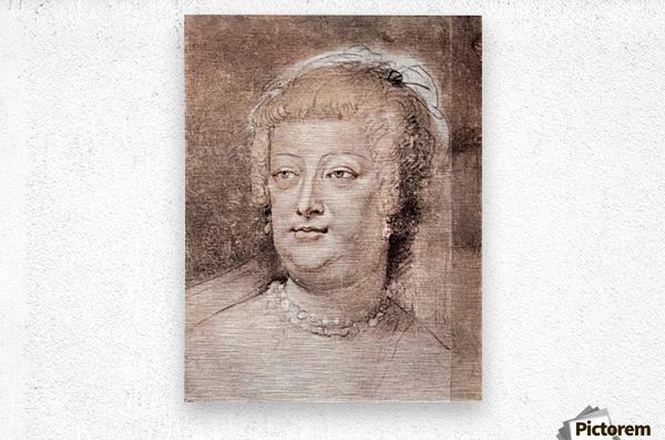Portrait of Maria de Medici by Rubens  Metal print