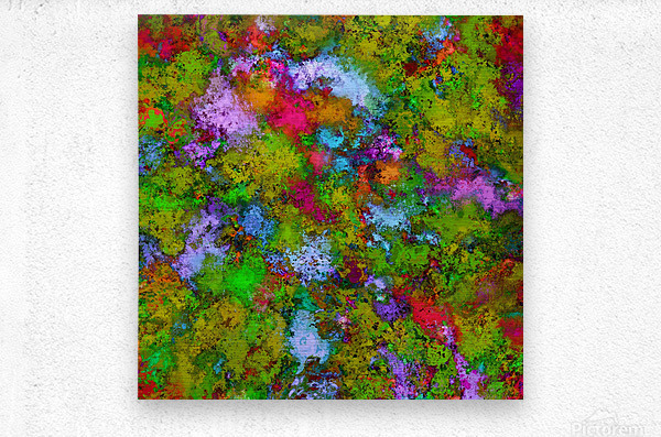 Above the tree canopy  Metal print