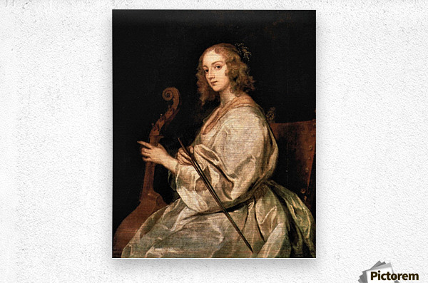 Portrait of Mary Ruthven, wife of the artist by Van Dyck  Metal print