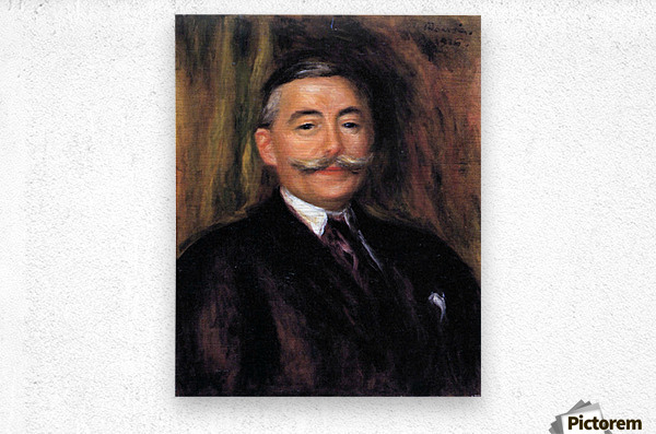Portrait of Maurice Gangnat by Renoir  Metal print