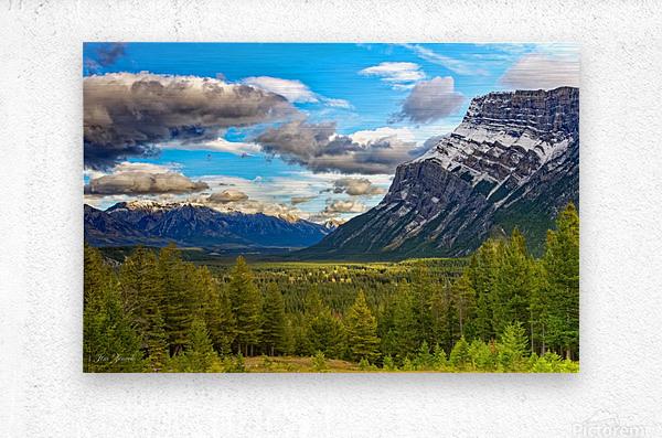 Canadian Rockies  Metal print