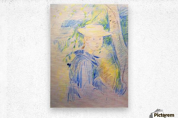 Portrait of Paule Gobillard by Morisot  Metal print