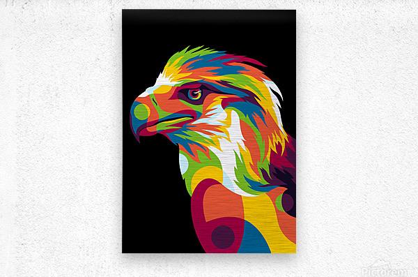 Philippine Eagle Illustration  Metal print