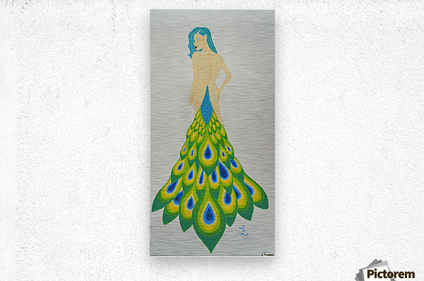 A Cheeky Introduction - First in the Peacock Princess Series  Metal print