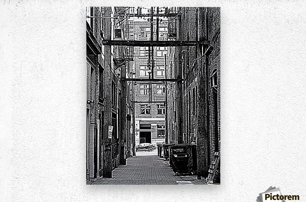 The Old Alleyways  Metal print