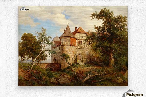 Burg Wohldenberg bei Hildesheim  Metal print