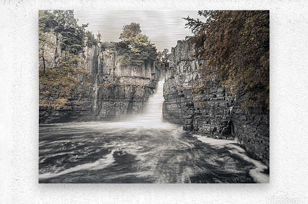 High Force waterfall, North Pennines, Yorkshire, UK  Metal print