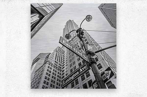 Chrysler Building in New York city  Metal print