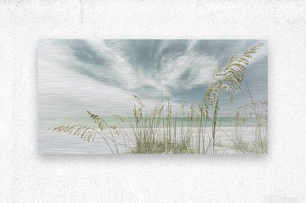 Heavenly calmness on the beach | Panoramic Vintage  Metal print