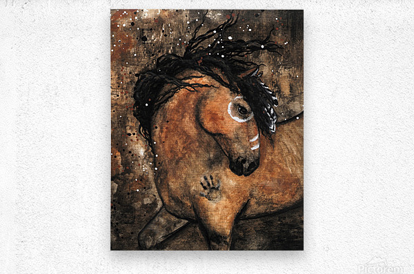 Spirit of Ancestors Horse  Metal print
