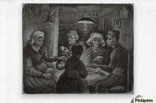 Potato Eaters by Van Gogh  Metal print
