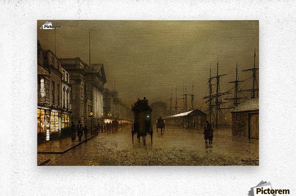 The Dockside Liverpool at Night  Metal print