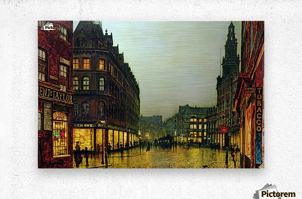 Boar Lane, Leeds  Metal print