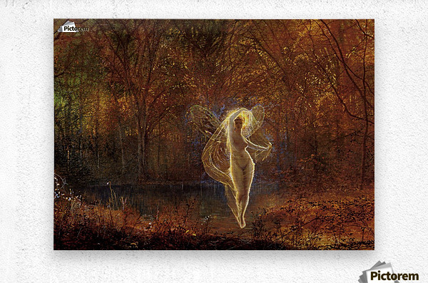 Dame Autumn has a mournful face  Metal print