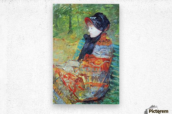 Profile of Lydia by Cassatt  Metal print
