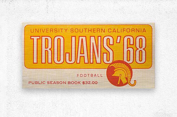 1968 USC Trojans Season Ticket  Metal print