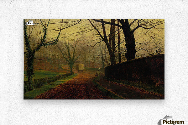 Autumn Sunshine Stapelton Park  Metal print