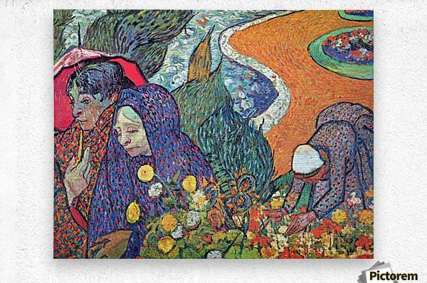 Promenade in Arles by Van Gogh  Metal print