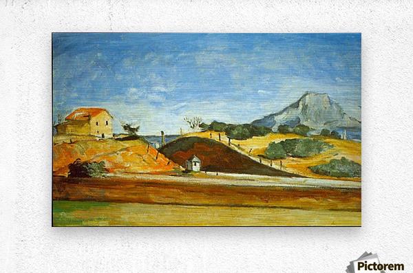 Railway Cutting by Cezanne  Metal print