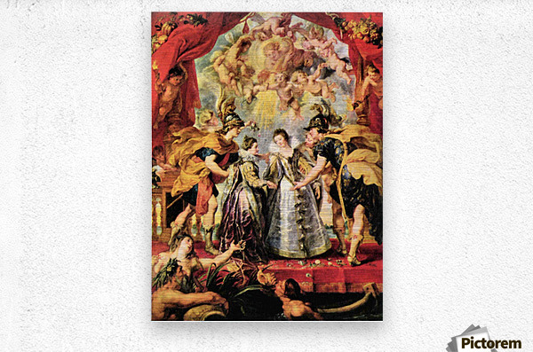 Replacing the Medici Princess by Rubens  Metal print