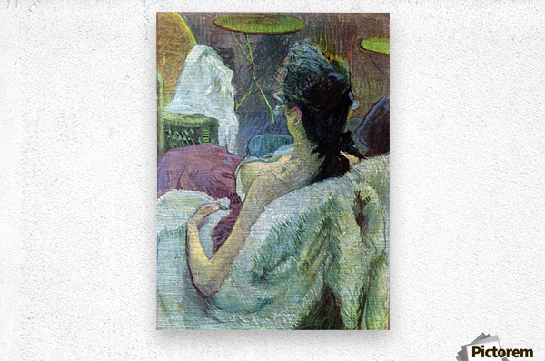 Resting Model by Toulouse-Lautrec  Metal print