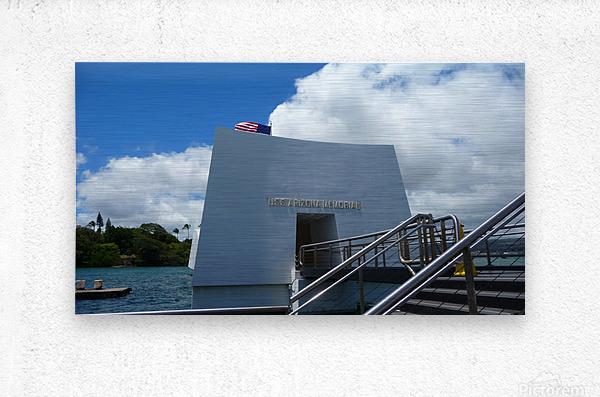 USS Arizona Memorial Hawaii  Metal print