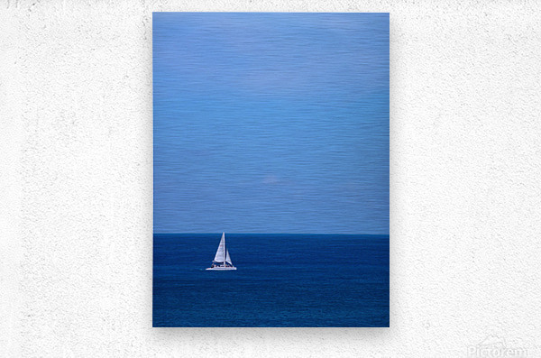 Blue Day - Gallery Artwork of the Year 2017 - Minimalism  Metal print