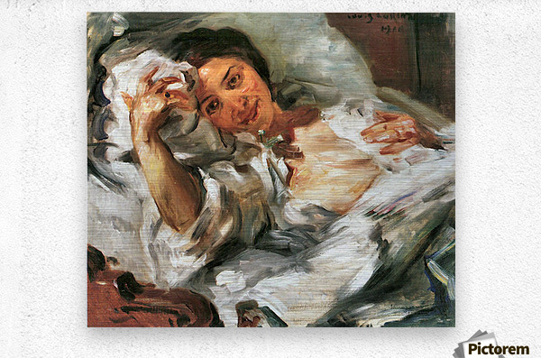 Morning Sun by Lovis Corinth  Metal print
