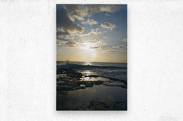 Softly Came the Night Over the Pacific  Metal print
