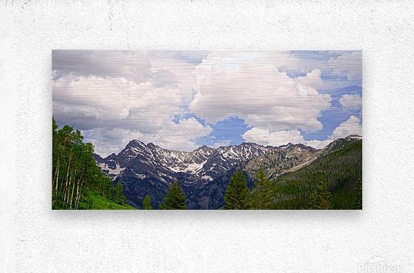White River Country Colorado  Metal print