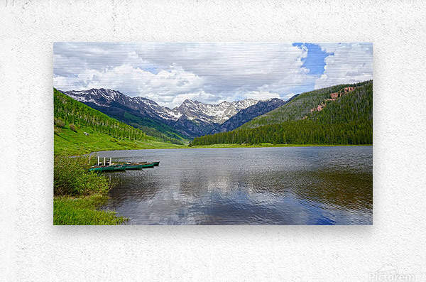 Rocky Mountain Reflections  Metal print