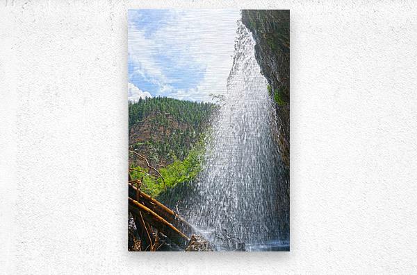 Inside the Waterfall  Metal print