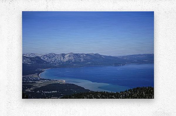 Lake Tahoe View - Tahoe California USA  Metal print