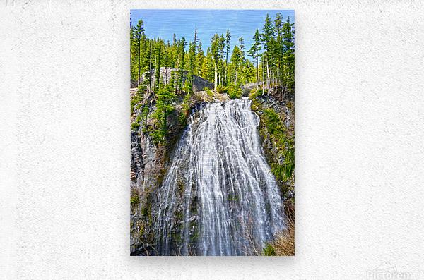 Northwest Waterfall  Metal print