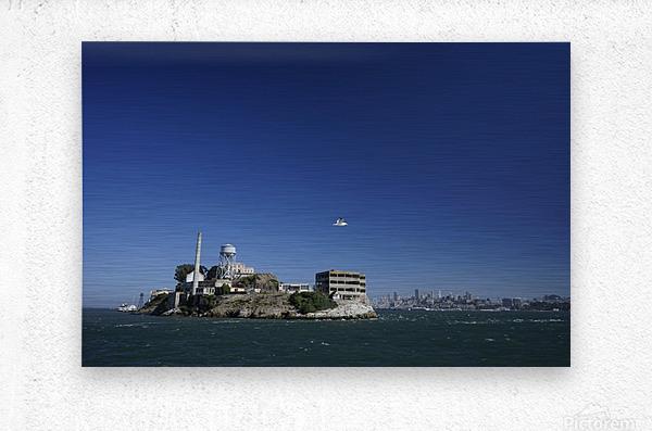 Alcatraz   The Rock @ San Francisco Bay  Metal print