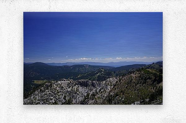 View from the Top Lake Tahoe California  Metal print