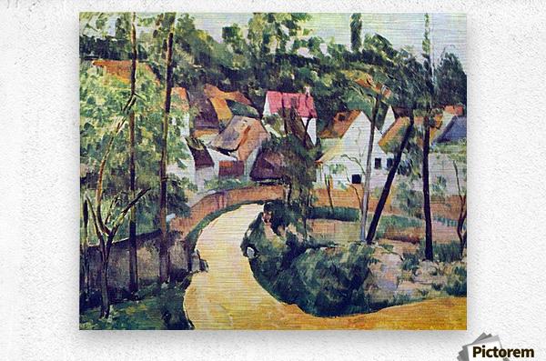 Road bend by Cezanne  Metal print