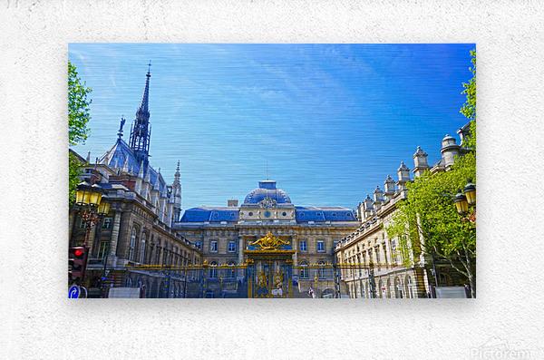 Paris Snapshot in Time 4 of 8  Metal print