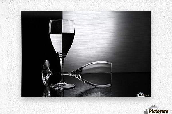 Glasses by madras91    Metal print